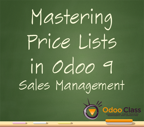 Mastering Price Lists in Odoo 9 Sales Management
