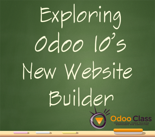 Exploring Odoo 10's new Website Builder