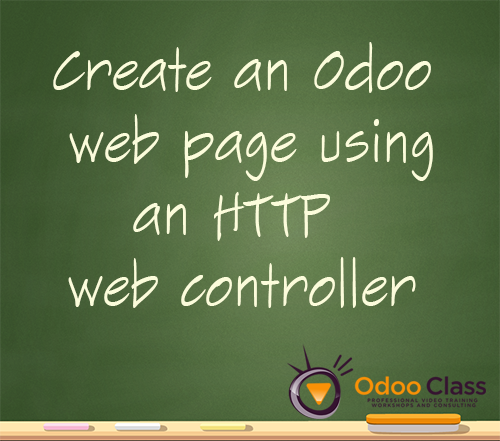 Create an Odoo web page using a HTTP web controller