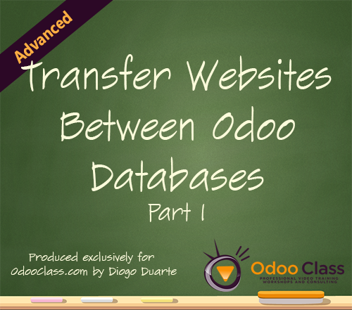 Transfer Websites Between Odoo Databases - Part 1