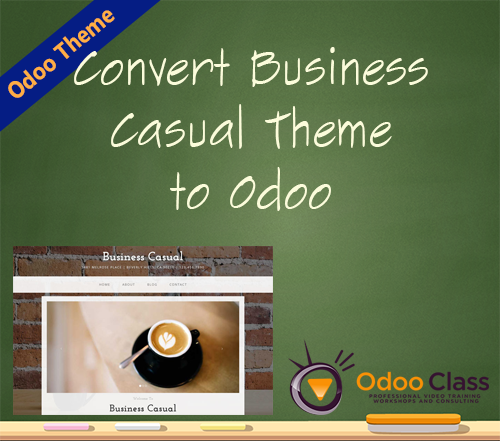 Convert Business Casual Theme to Odoo