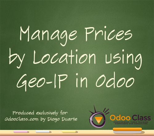 Manage Pricelists by Location using Geo-IP in Odoo