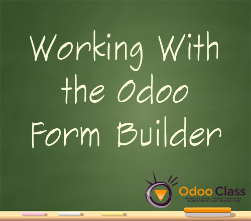 Working with the Odoo Form Builder