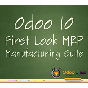 Odoo 10 First Look - MRP Manufacturing Suite