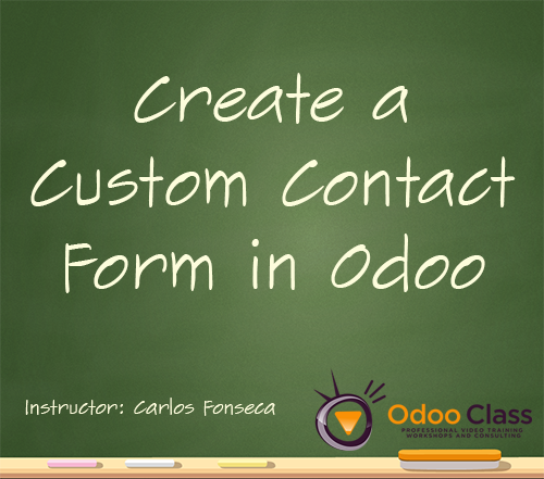 Create a Custom Contact form in Odoo