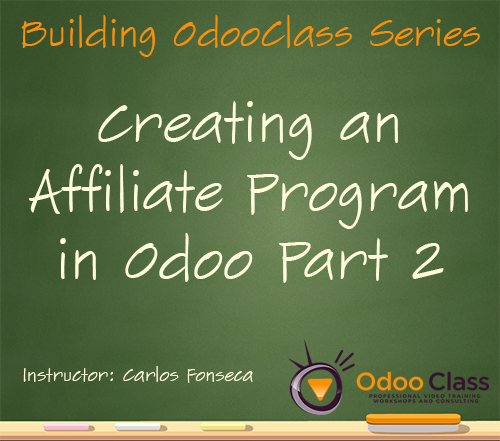 Creating an Affiliate Program in Odoo - Part 2