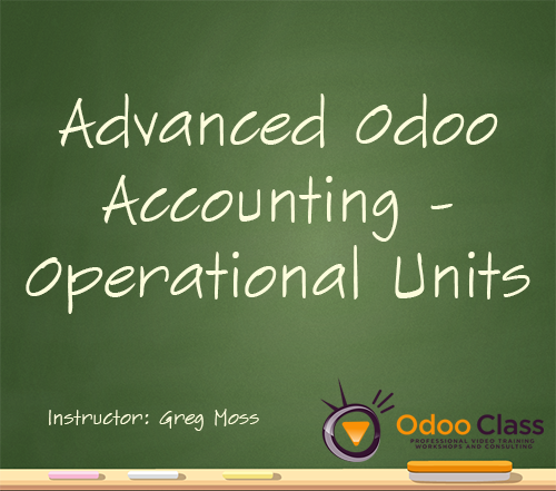 Advanced Odoo Accounting Operational Units