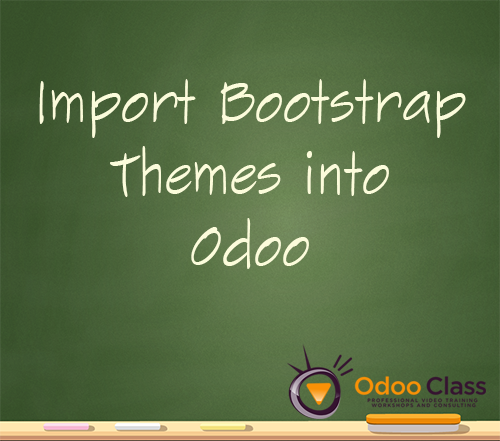 How to import Bootstrap themes into Odoo