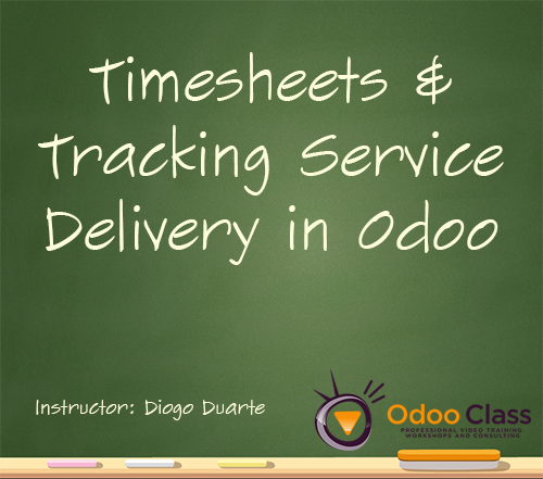 Timesheets & Tracking Service Delivery in Odoo