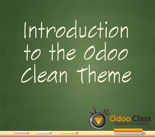 Introduction to the Odoo Clean Theme