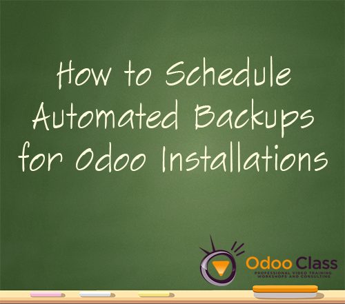 How to Schedule Automated Backups for Odoo Installations