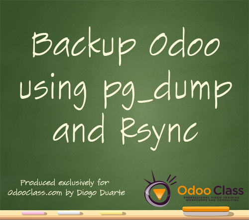 Backup Odoo using pg_dump and Rsync