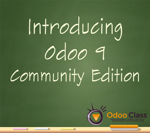 Introducing Odoo 9 Community Edition