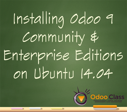 Installing Odoo 9 Community & Enterprise Editions on Ubuntu 14.04